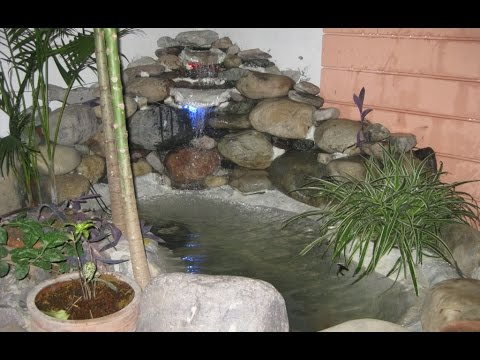 DIY Construct small fish Pond and waterfall in your garden - DIY Construct Small Fish Pond And Waterfall In Your Garden - YouTube