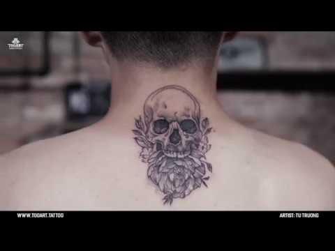 [TOOART TATTOO] Hình xăm Skull Flower