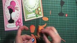 Fashion Hats punch art Instruction set