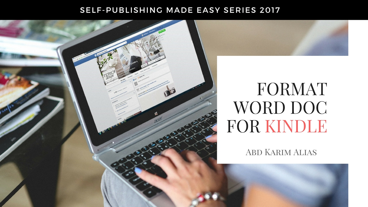 Formatting word for kindle epub or mobi