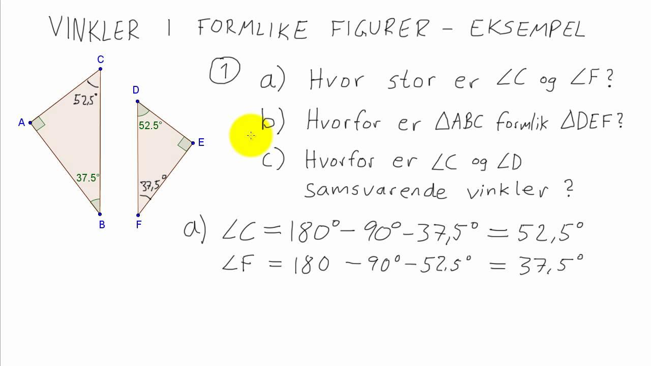 Matematikk 1P - 005 - Vinkler i formlike figurer 2