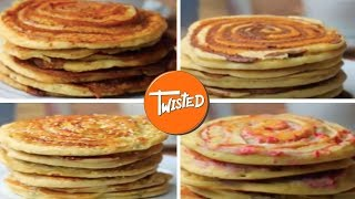4 Way Swirl Pancake Recipes | Twisted