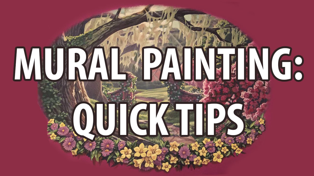 Mural painting quick tips youtube for A mural painting