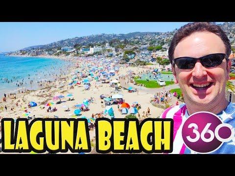 Laguna Beach Main Beach Walkthrough In 360 Video