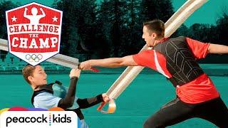 Supersized Sword Fencing Challenge! (ft. Olympian Alexander Massialas) | CHALLENGE THE CHAMPS