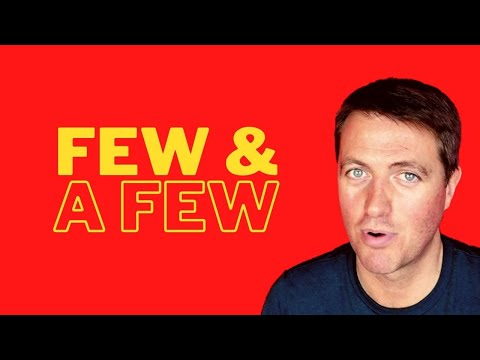Learn English grammar | Few and a few
