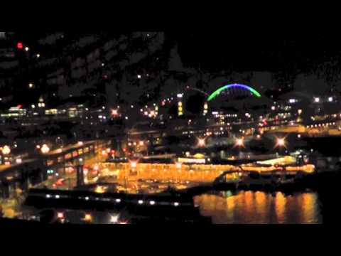 Seattle's  Great Wheel  @ night