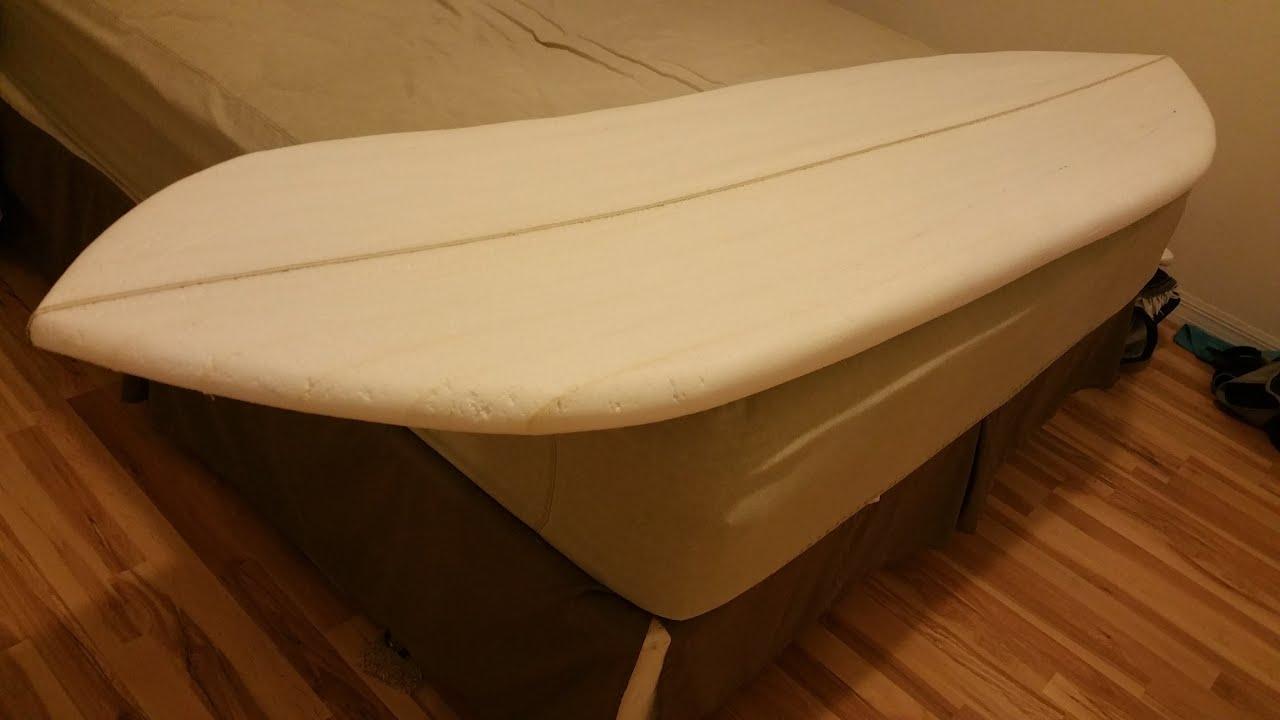 7 1 Surfboard Blank From Scratch Using Eps Insulation Foam Youtube