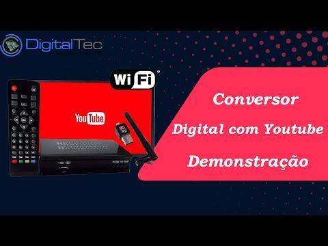 Conversor digital com youtube Demonstração e configuração (modelo descontinuado) - 2018