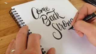 Practice lettering with me crayola calligraphy brush pen and
