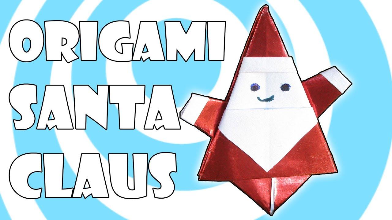 Santa Claus Origami for Christmas | Basteln weihnachten ... | 720x1280