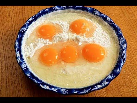 一碗麵粉,5個鴨蛋,和麵不用一滴水,勁道爽滑,出鍋全家都愛吃【夏媽廚房】