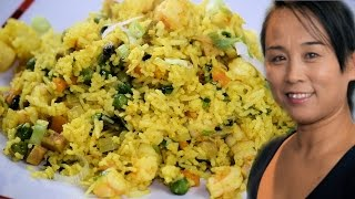 Chinese Special Fried Rice with Prawns (Chinese Style Cooking Recipe)