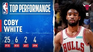 Coby White GOES OFF In Second-Career Game