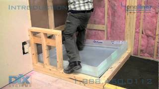 Shower Pan Liner Install Dix Intro To Dix Systems Oneliner For Mortar Bed Tile Shower Floors
