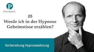 Werde ich in der Hypnose Geheimnisse verraten?
