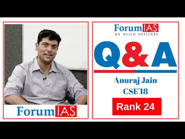 Psychology Topper Anuraj Jain AIR 24 CSE 2018| 2nd Attempt