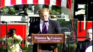 N.J. Burkett keynote from the 11th Annual 9/11 Memorial Ceremony at Sussex County Community College