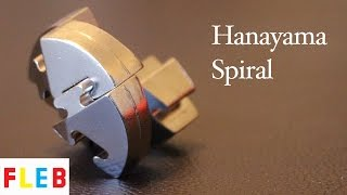 Spiral Hanayama Cast Metal Brain Teaser Puzzle Is Oddly Satisfying To Play With