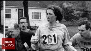 Boston Marathon: Meet the first woman to run it - BBC News