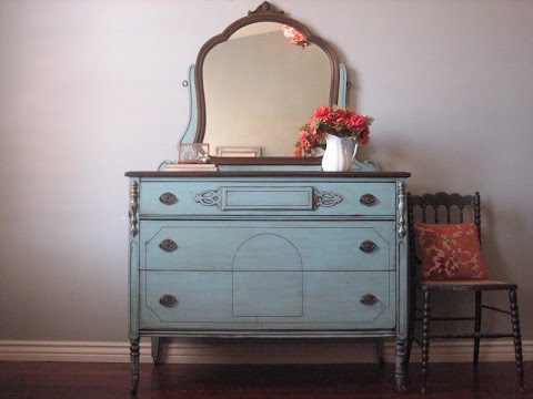 Teal And White Dresser