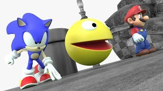Pacman Mario and Sonic crazy adventure 02