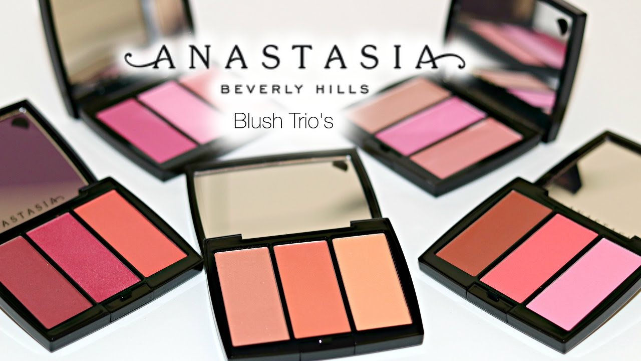 New Anastasia Beverly Hills Blush Trios | SWATCHES - YouTube
