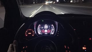 POV Night Drive | 2015 Fiat 500 Abarth (5-Speed Manual)