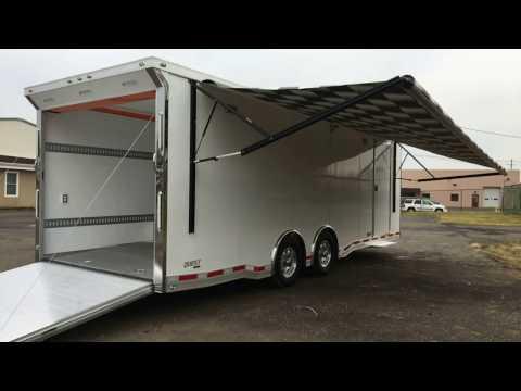 All Aluminum Car Trailer ATC Car Hauler CH405 Orange Cabinets Motocross Trailer