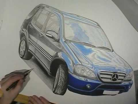 mercedes ml 400 cdi speed drawing youtube. Black Bedroom Furniture Sets. Home Design Ideas