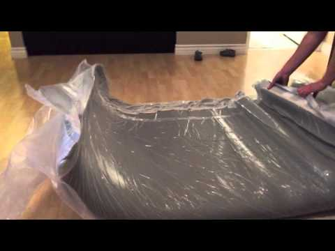 Unboxing and setting up our new Leesa mattress