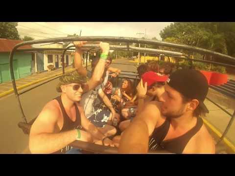 NICARAGUA 2013 - Go Pro - Surf - Bike - Dirt Bike - Zip Line - Sunday Funday - Volcano