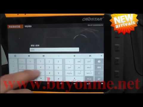 How OBDSTAR X300DP X300 DP OBDSTAR Key Master DP Diagnosis programmer program keys for MG GS?