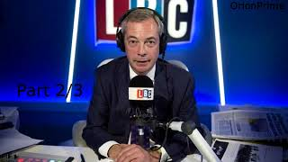 Nigel Farage Presenting LBC Drive 4pm-7pm Part 2/3 - 29th August 2017