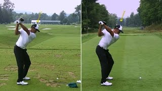 Tiger Woods' side-by-side swing analysis at The Greenbrier