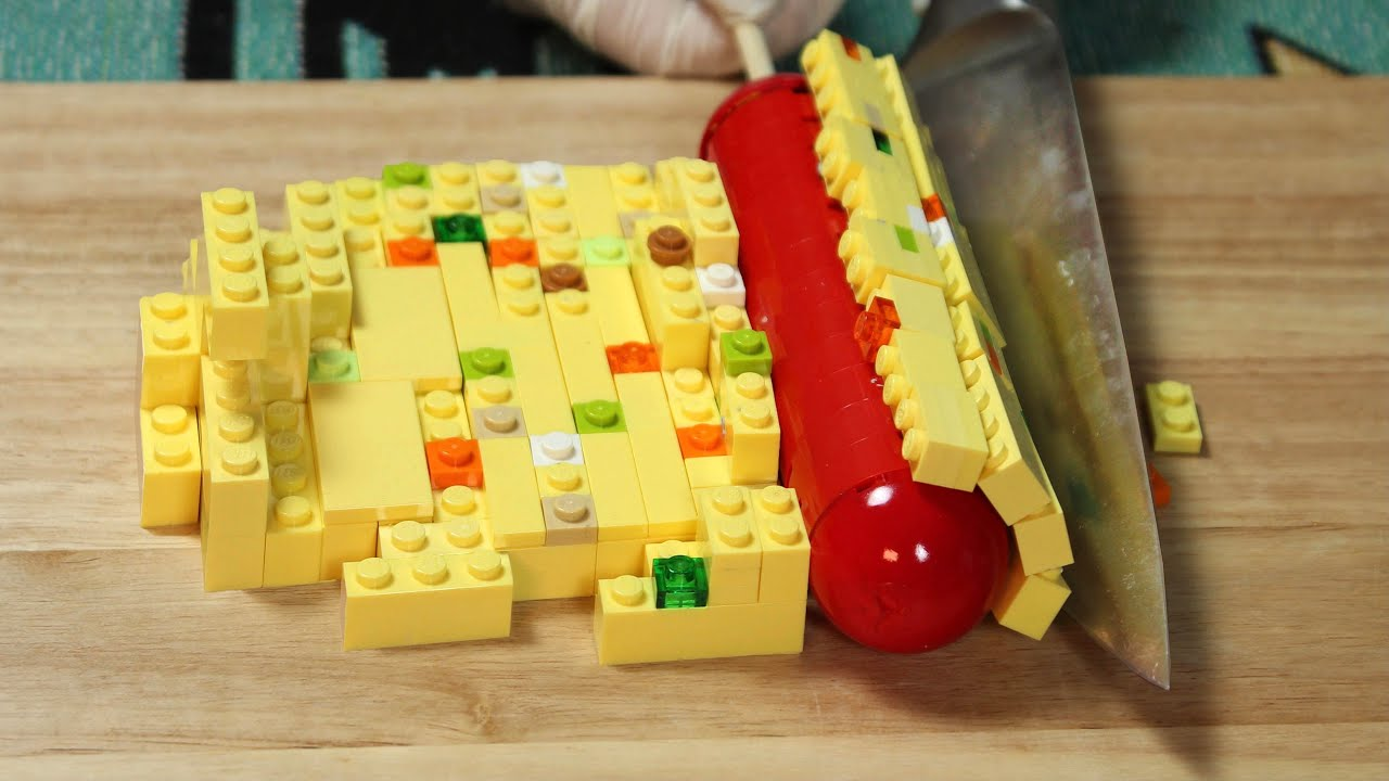 Lego FISH CAKE Soup - LEGO in Real Life / Stop Motion Cooking