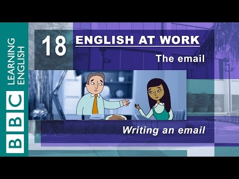 Writing an email – 18 – English at Work has the words for pe