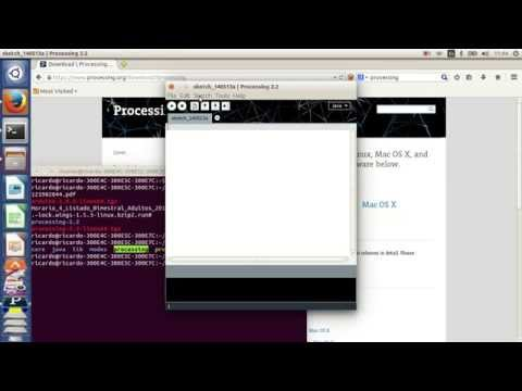 how to run , execute or open processing in ubuntu 14.04 by experimentos rafageek2013 on YouTube