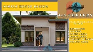 4x6.5 Meters Small House Design Ideas W/ Floor Plan