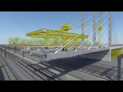 Video animation for erection of cable stayed bridge at Bardhman