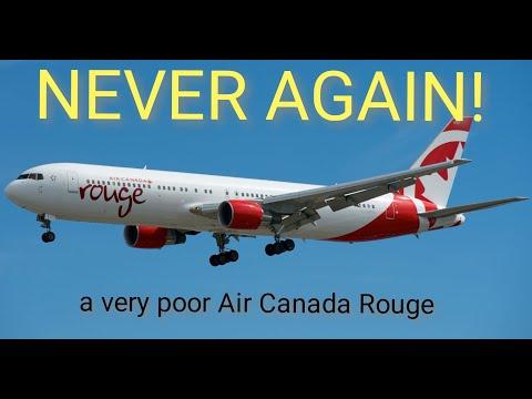 Air Canada Rouge Never Again