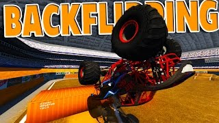 BeamNG Drive - BACKFLIPS IN A MONSTER TRUCK!