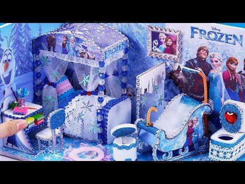 DIY Miniatures Frozen Bedroom and Bathroom #40