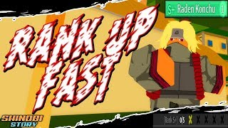 HOW TO RANK UP FAST | S+ Fast in Shinobi Story | Roblox | iBeMaine