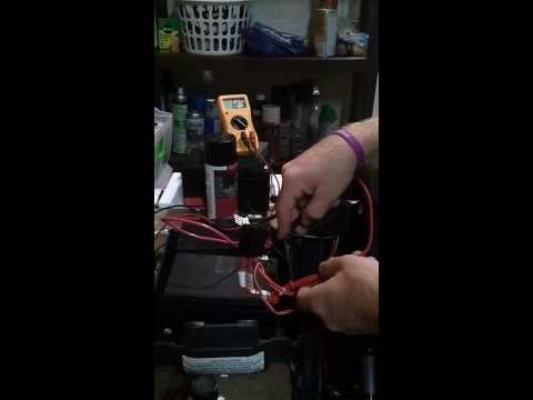 Mobility scooter battery & charger test