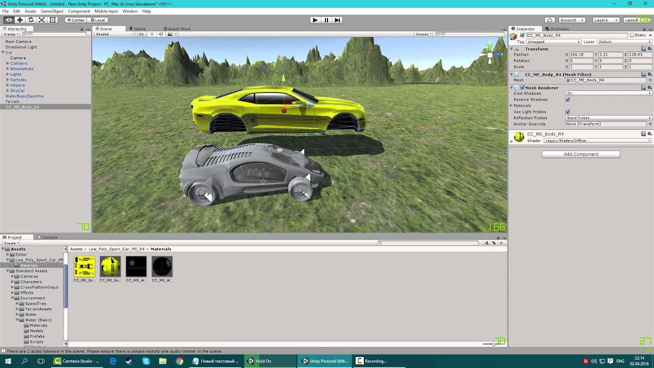 Creating a racing game in unity 3d very fast part 1 for Make 3d online