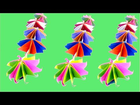 DIY Paper Star Garland For Room Decor | Garland Making With Paper | Easy Craft Ideas | Wall Decor