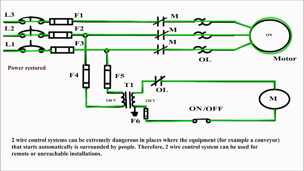Wiring 240 Volt Schematic 3 Wires List Of Circuit Diagram 2 Wire Control Vs And Rh Youtube