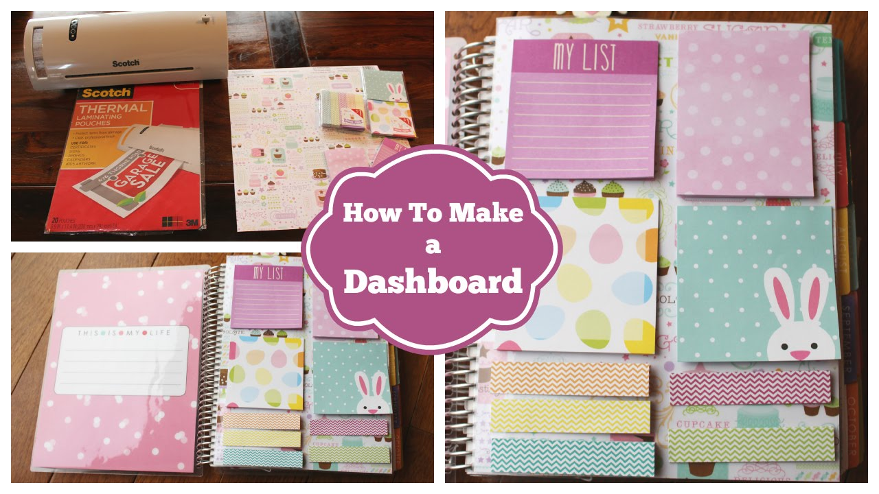 How to make a dashboard for your erin condren life for What is a planner dashboard