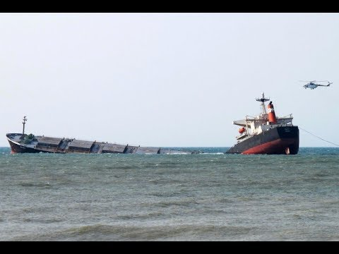 Capesize Bulk Carrier Smart in Full load Ran Aground and Broke in Two